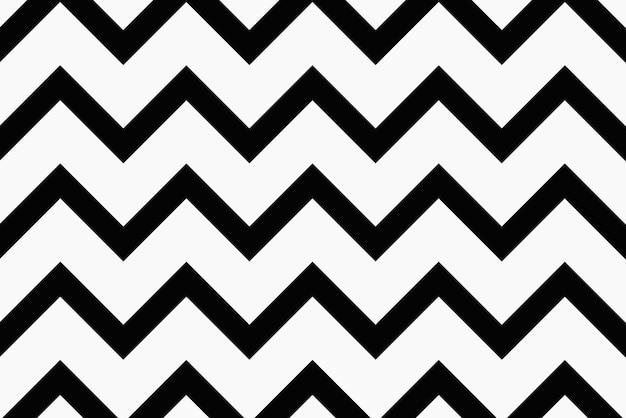 Fond noir en zigzag, vecteur de conception de modèle simple
