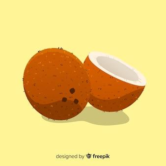 Fond de noix de coco dessiné à la main