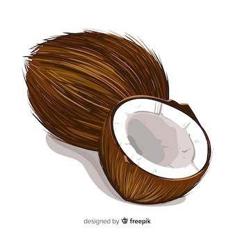 Fond de noix de coco réaliste
