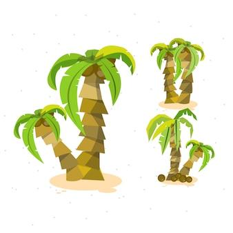 Fond de noix de coco de vacances