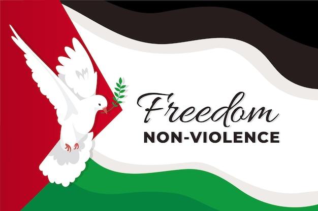 Fond de non-violence design plat