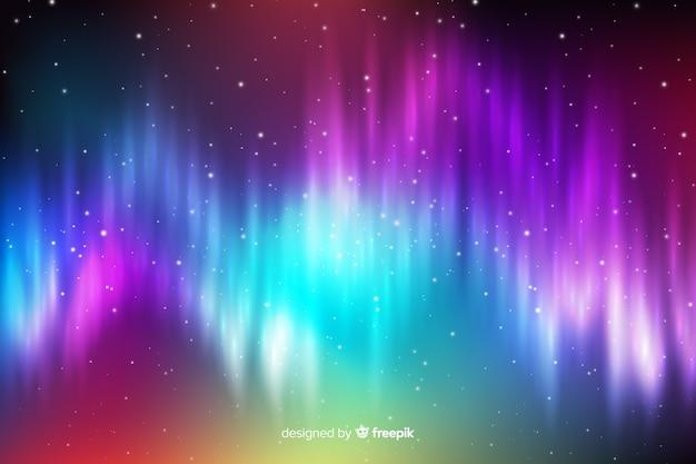 Fond nordique avec des ondes lumineuses