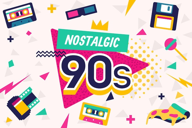 Fond nostalgique des années 90 design plat