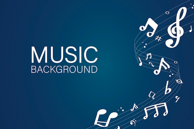 Fond de notes de musique