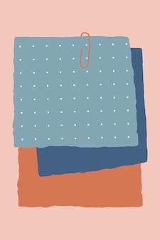 Fond de notes en papier
