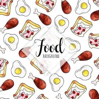 Fond de nourriture aquarelle