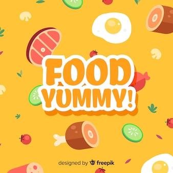 Fond de nourriture délicieux