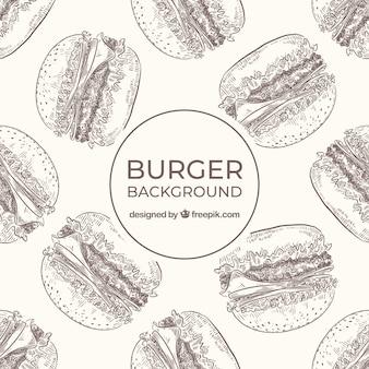 Fond de nourriture avec des hamburgers