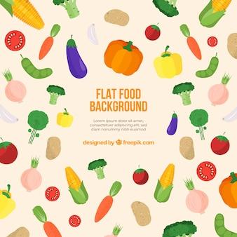 Fond de nourriture avec des légumes