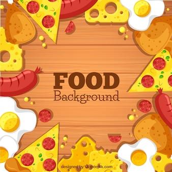 Fond avec de la nourriture rapide