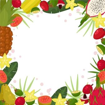 Fond de nourriture saine avec des fruits et légumes