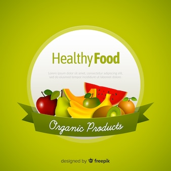 Fond de nourriture saine réaliste