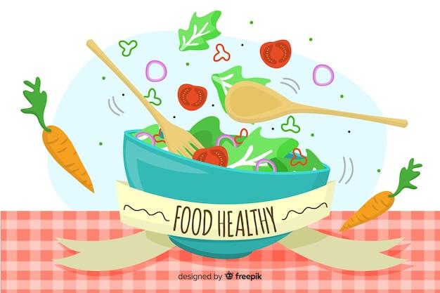 Fond de nourriture saine