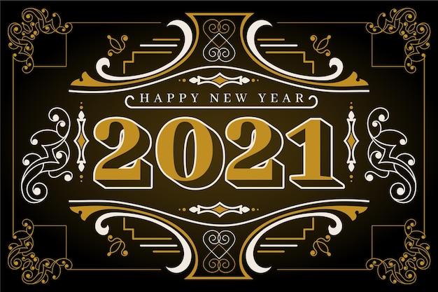 Fond de nouvel an 2021 vintage