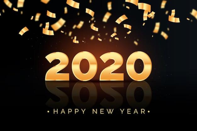 Fond de nouvel an confetti