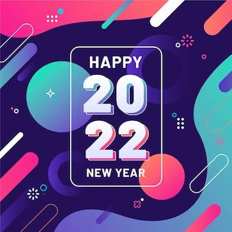 Fond de nouvel an dégradé