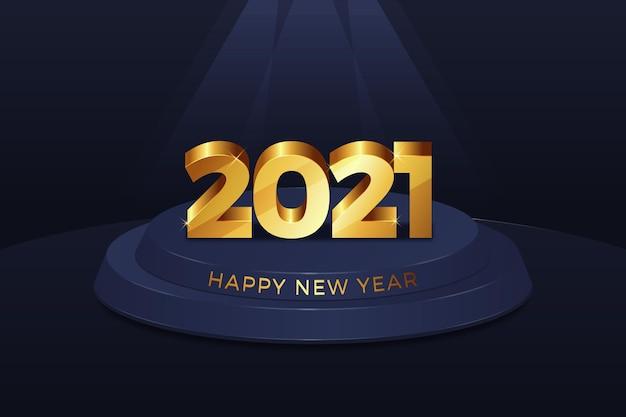 Fond de nouvel an doré 2021