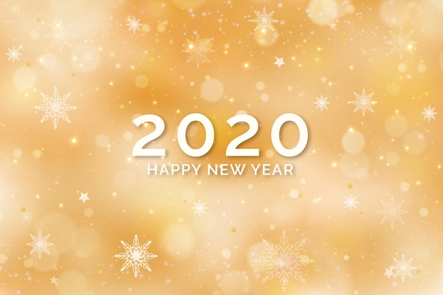 Fond nouvel an doré