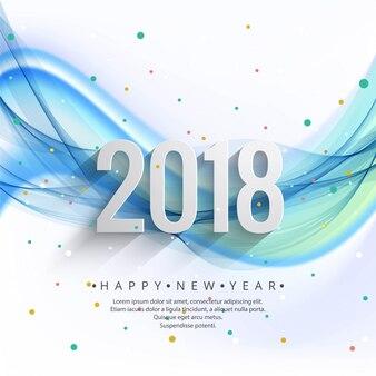 Fond de nouvel an moderne 2018