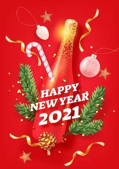 Fond de nouvel an pour les vacances
