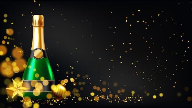 Fond de nouvel an avec des verres à champagne