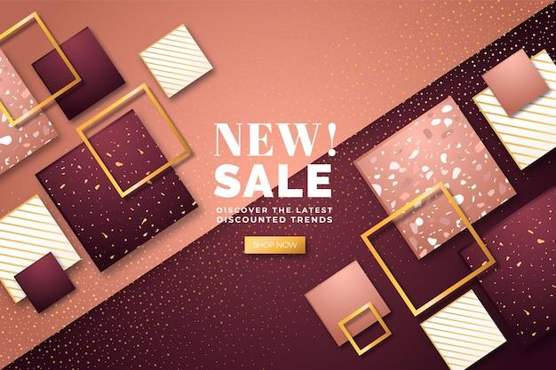Fond de nouvelle vente de luxe doré
