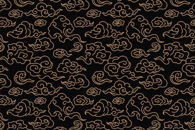 Fond de nuage, vecteur de motif oriental chinois sans soudure