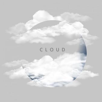 Fond avec des nuages sur le ciel bleu
