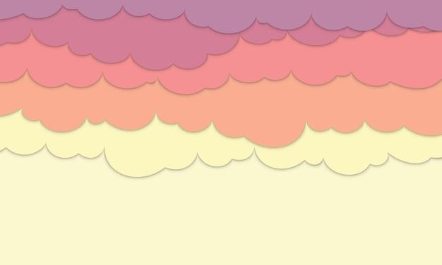 Fond de nuages coucher de soleil avec un espace pour le texte. nouveau style pour votre site web de bannière.