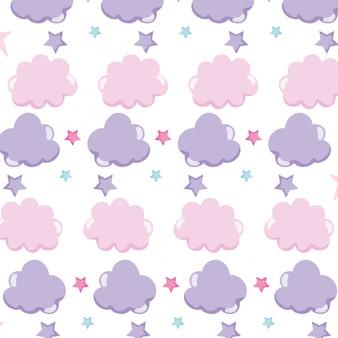 Fond de nuages mignons