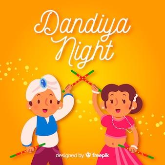 Fond de nuit de dandiya