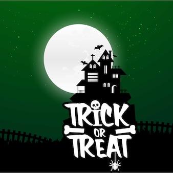 Fond de nuit effrayant halloween halloween