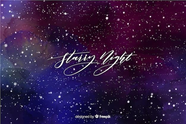Fond de nuit étoilée