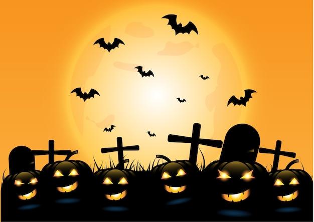 Fond de nuit de halloween
