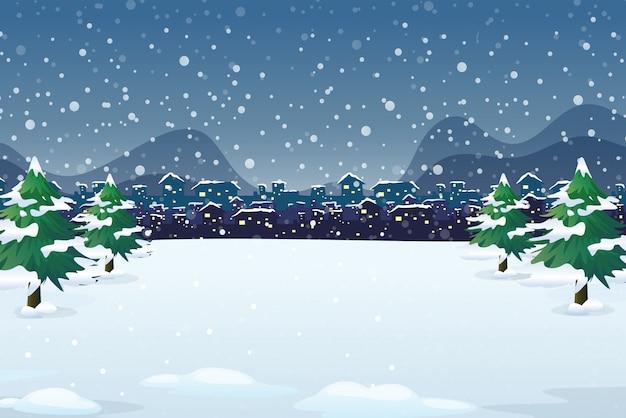 Un fond de nuit d'hiver