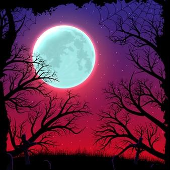 Fond de nuit joyeux halloween