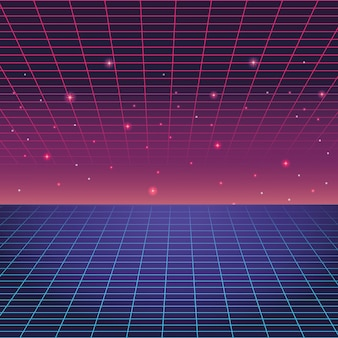 Fond numérique bleu et violet