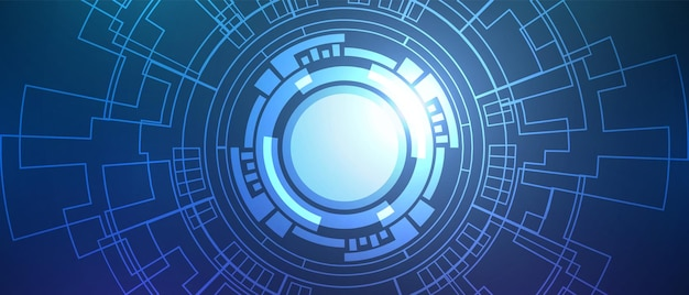 Fond numérique de cercle abstrait, technologie de lentille intelligente, carte de circuit imprimé