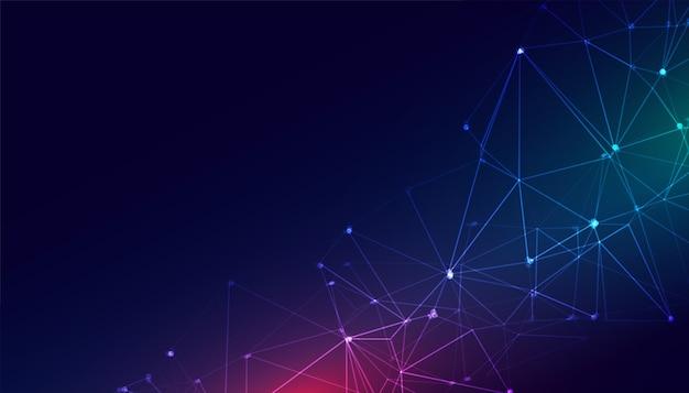 Fond numérique de connexion réseau de treillis métallique de technologie