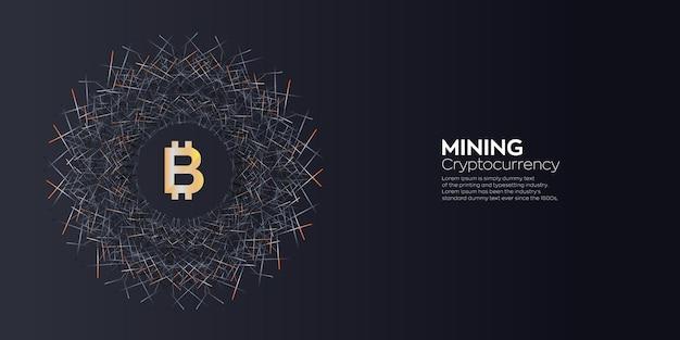 Fond numérique créatif de l'exploitation minière bitcoin