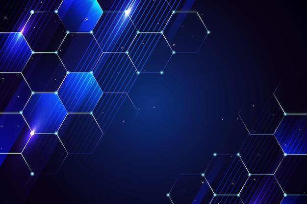 Fond numérique de l'espace copie bleu foncé en nid d'abeille