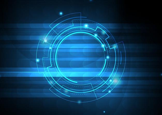 Fond numérique modèle bleu