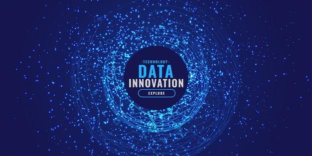 Fond numérique avec particules éclater concept technologique