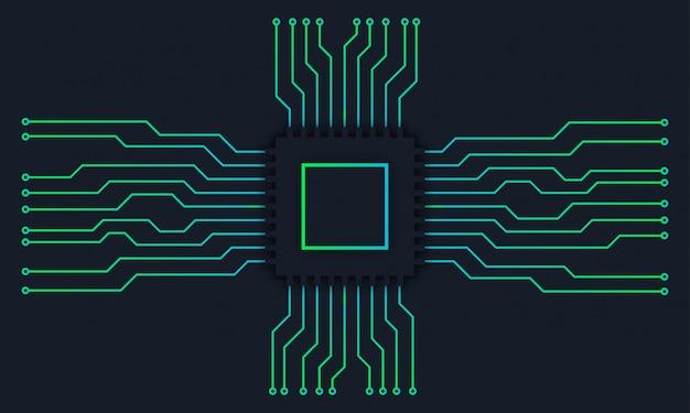 Fond numérique de technologie de carte mère de circuit