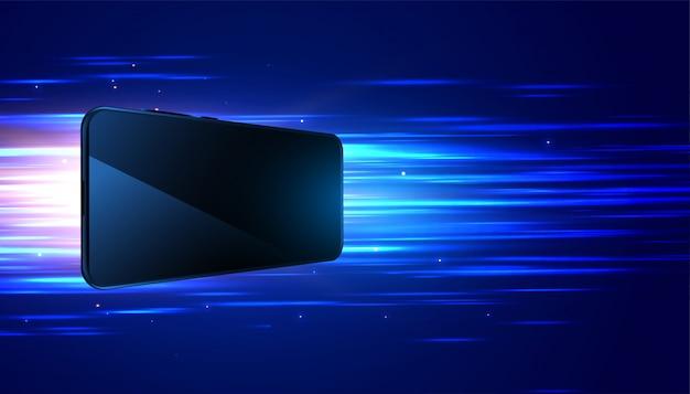 Fond numérique de la technologie mobile à vitesse rapide