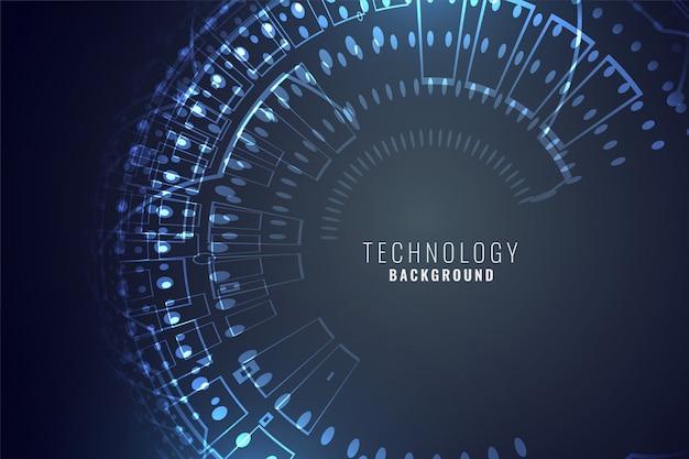 Fond numérique de technologie