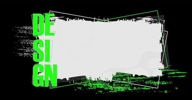 Fond numérique de vecteur grunge moderne avec des traits de peinture blanche