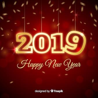 Fond de numéro effervescent nouvel an