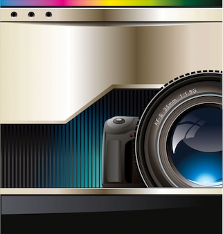 Fond avec l'objectif de la caméra