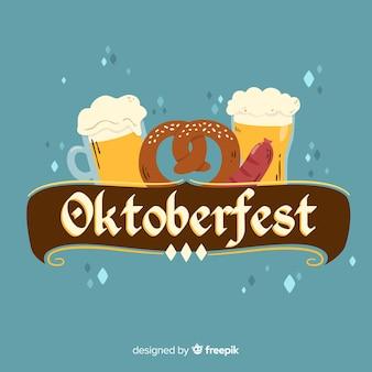 Fond d'oktoberfest créatif